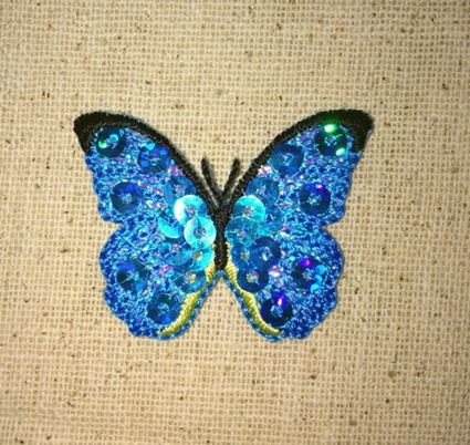 Small Blue Sequin Butterfly
