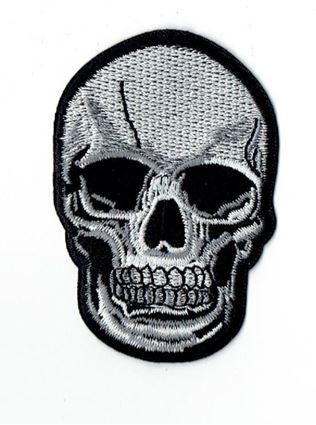 Small Black and Gray Human Skull