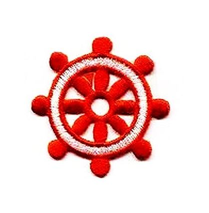 Ships Wheel - Red/White