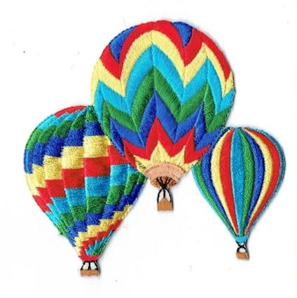 Three Striped Hot Air Balloons