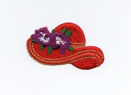 Red Hat with Purple Flowers