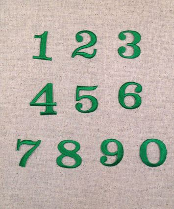 Green Numbers Block Style