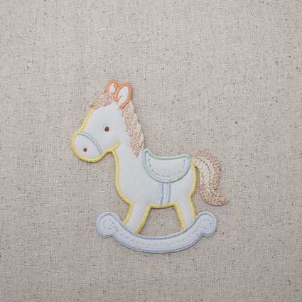 Pastel Puffy Rocking Horse