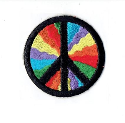 Rainbow 60s Peace Sign