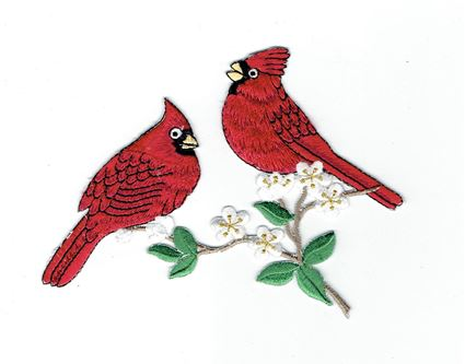Two Male Cardinals on a Branch