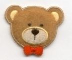 PUFFY TEDDY IRON ON PATCH 1121045-A