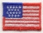 SMALL FLAG IRON ON PATCH 23252-F