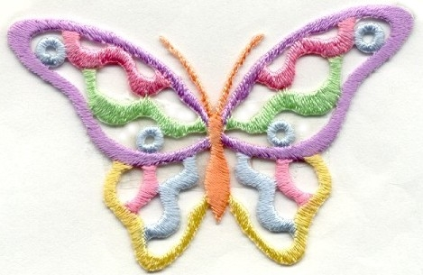 BUTTERFLY OPEN PASTEL IRON ON PATCH 240240-A