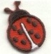 LADYBUG SMALL RED & BLACK TWILL IRON ON PATCH APPLIQUE 633310-A