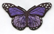 BUTTERFLY PURPLE PRESS ON PATCH 633325-E