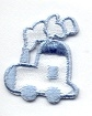 TRAIN BLUE IRON ON PATCH APPLIQUE 692705-C