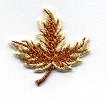 LEAVES-LEAF SMALL TAN & BROWN IRON ON PATCH 695563-B