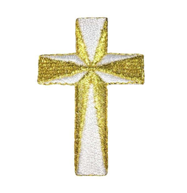 Cross - White/Gold