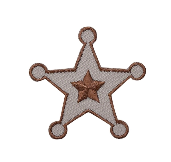 Sheriff Badge - Brown