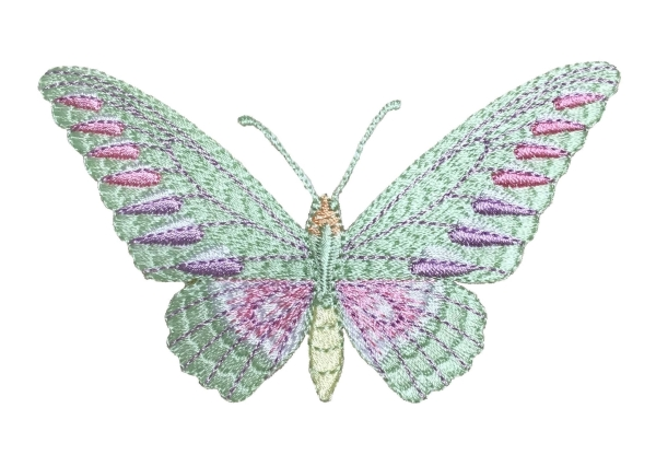 Butterfly/Moth - Green/Pink