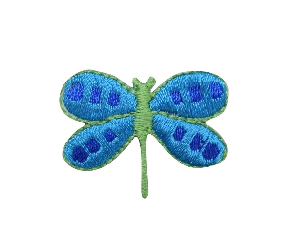DRAGONFLY TURQUOISE WITH GREEN IRON ON PATCH 682384-B