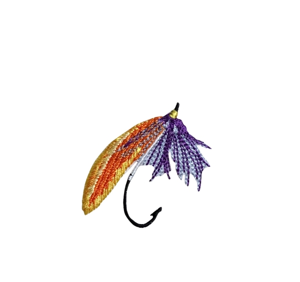S Fly Fishing Lure - Orange/Purple