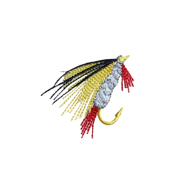 S Fly Fishing Lure - Yellow/Gray