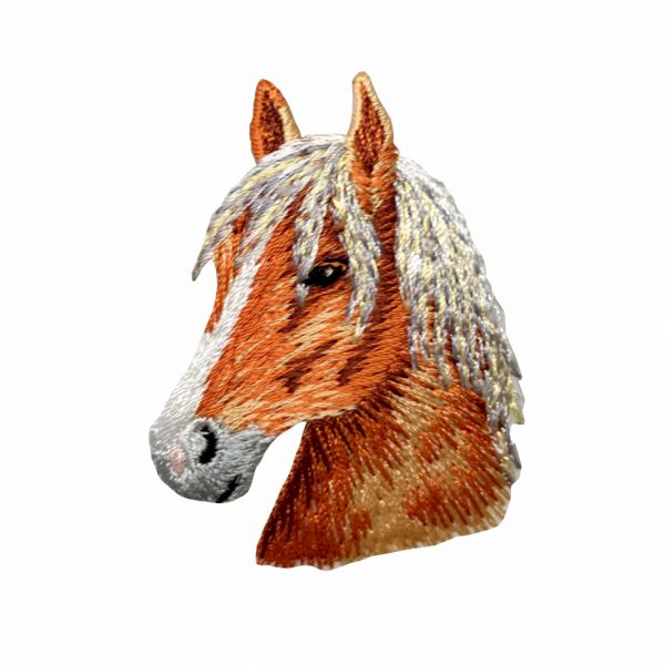 Chestnut Horse Head Facing Left