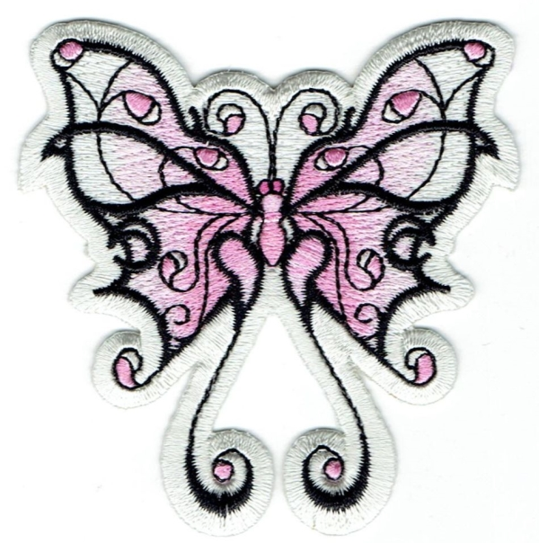 Tribal Butterfly - Pink/White