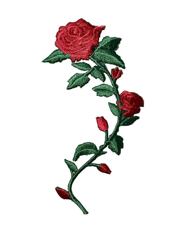 Small Rose On Stem - Left