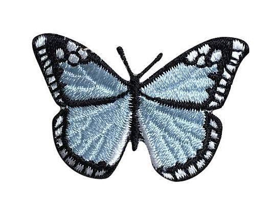 Light Blue/Black Butterfly 2
