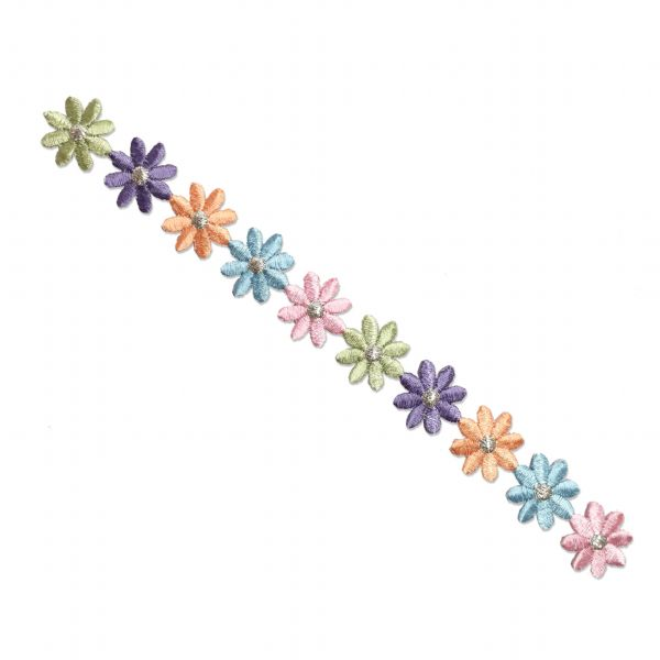 FLOWER DAISY STRIP IRON ON PATCH APPLIQUE 693775-A