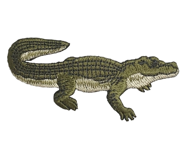 Natural Alligator - Green/Tan