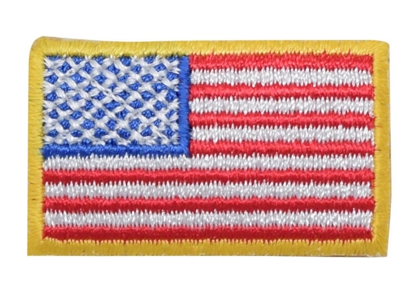 Small American Flag with Yellow Border
