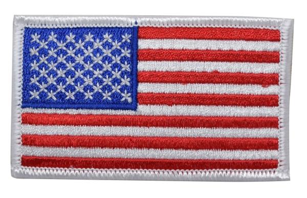 American Flag - White Edge