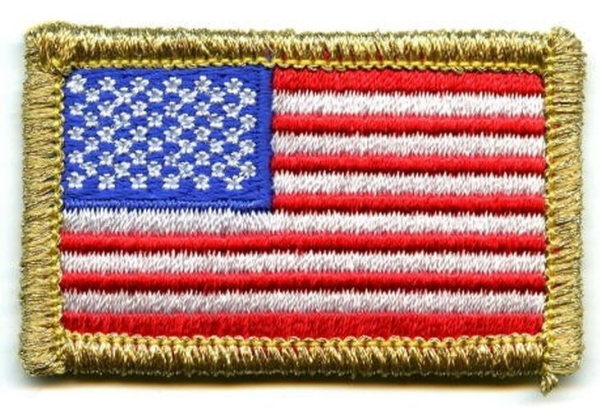 Small American Flag with Gold Edge