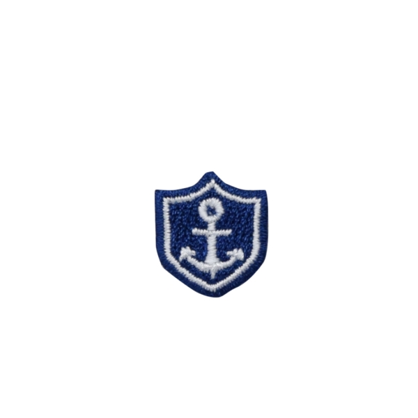 Small Blue and White Anchor Shield Patch