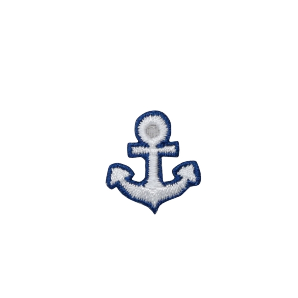 Small Nautical Blue and White Anchor