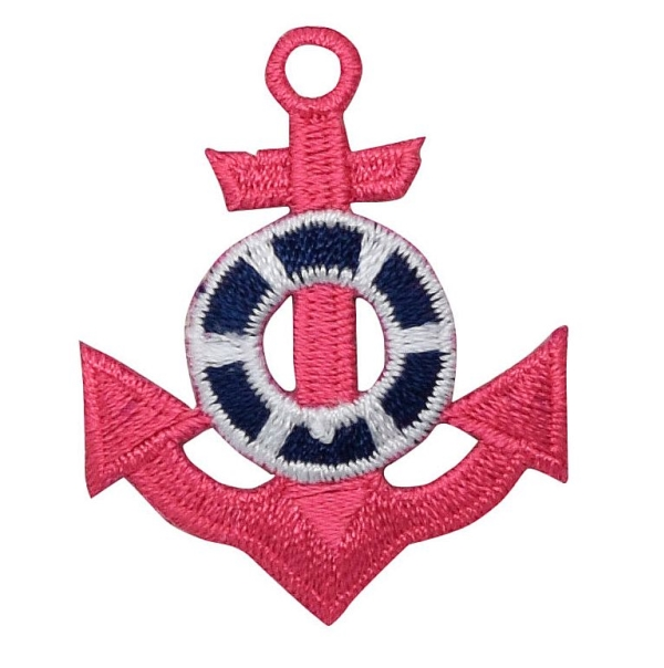 Pink Anchor - Blue Life Preserver