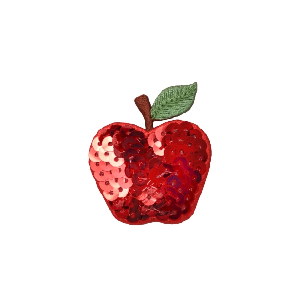 Sequin Single Red Apple