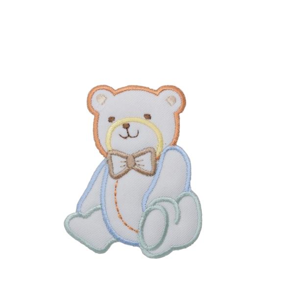 Pastel Puffy Boy Bear with Bowtie
