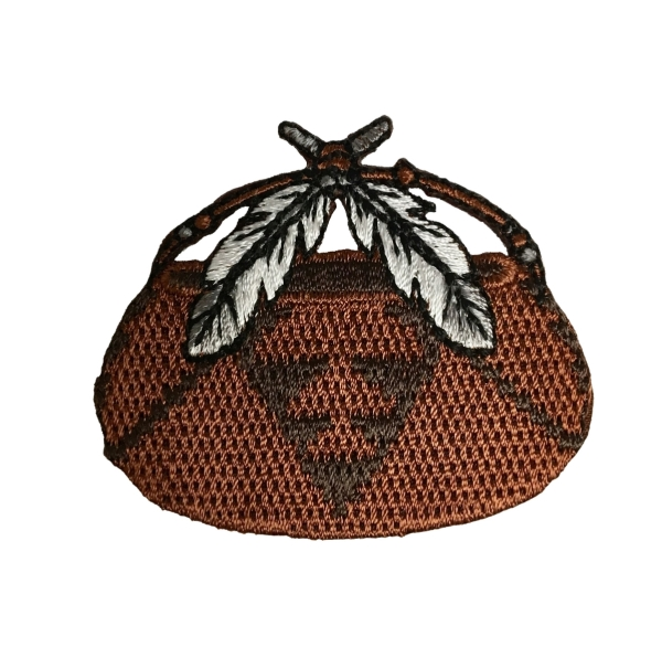 Woven Basket with Feathers