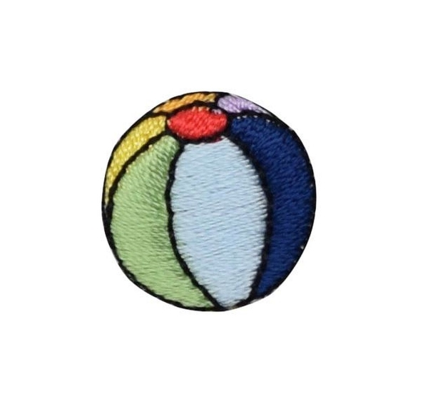 Small Colorful Striped Beach Ball