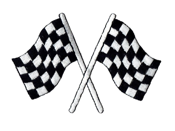 Black/White Checkered Racing Flag