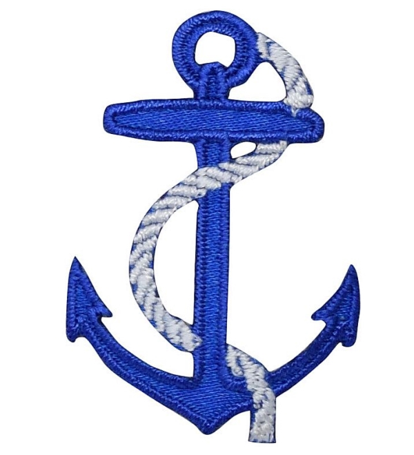 Small Blue Anchor with White Rope