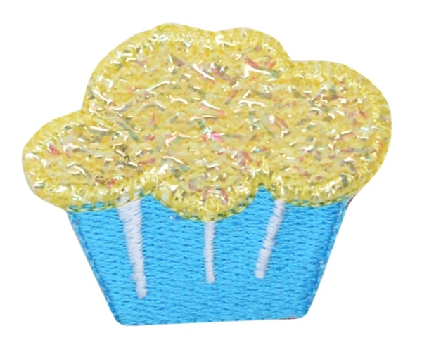 Blue/Yellow Shimmery Cupcake