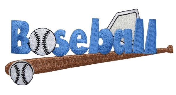 Blue Baseball Word