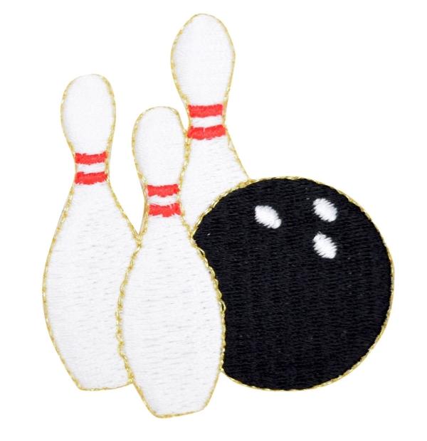 Bowling Ball with Three Pins