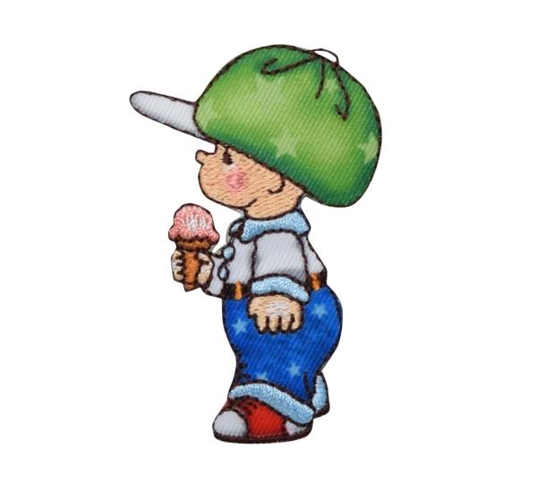 little boy with ice cream