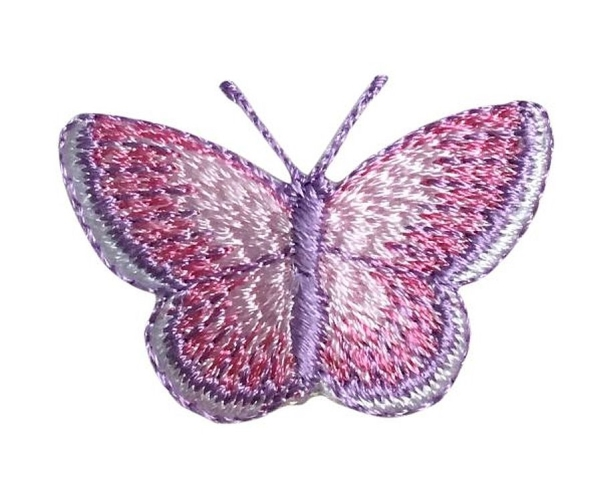 BUTTERFLY PINK AND LAVENDER IRON ON PATCH 240145-B