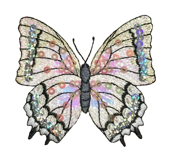 Butterfly - White Sequin