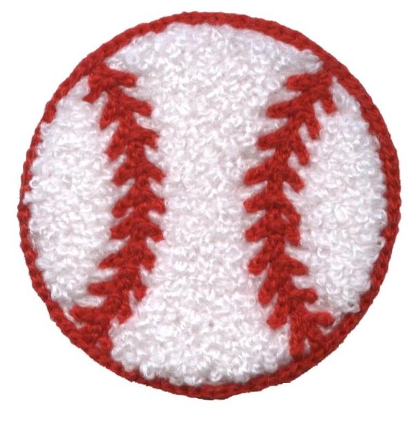 Chenille Baseball 2-3/8