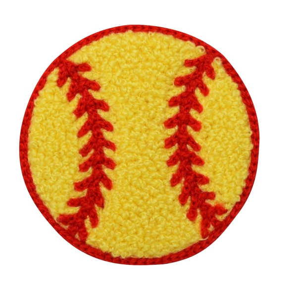 Chenille Softball 2-3/8