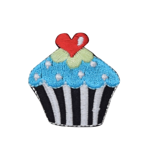 Cupcake - Black/White Striped