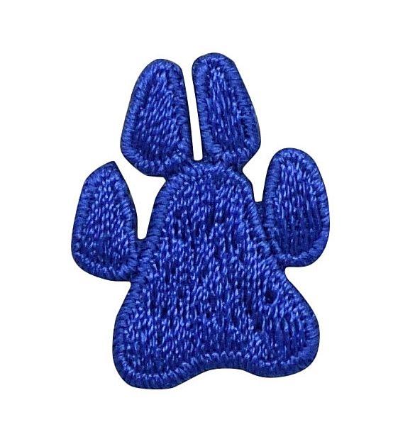 Small Animal Dog Paw Print Royal Blue